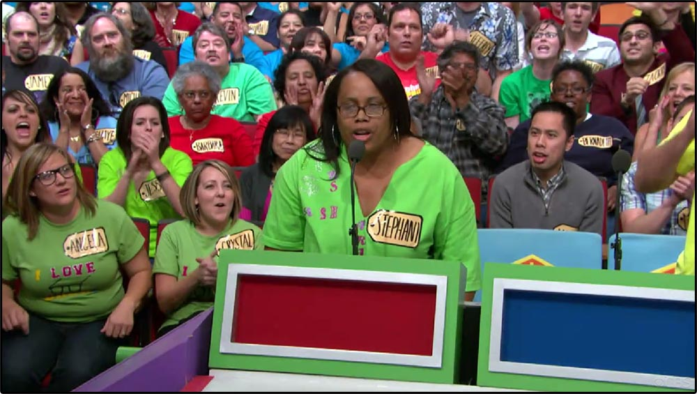 Figure 5.5 A social actor competes on The Price Is Right.