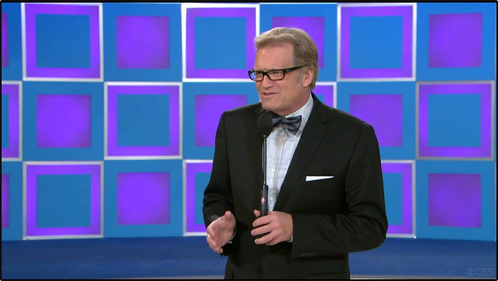 Figure 5.6 Drew Carey indirectly addresses the television viewer when he speaks to a contestant on The Price Is Right.