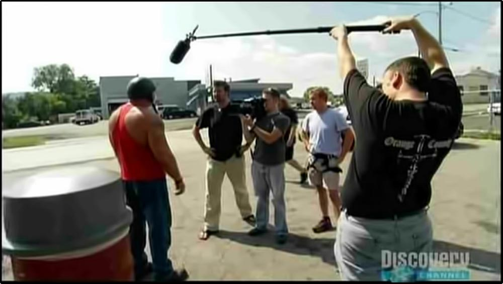 Figure 5.10 A scene from American Chopper is recorded . . .