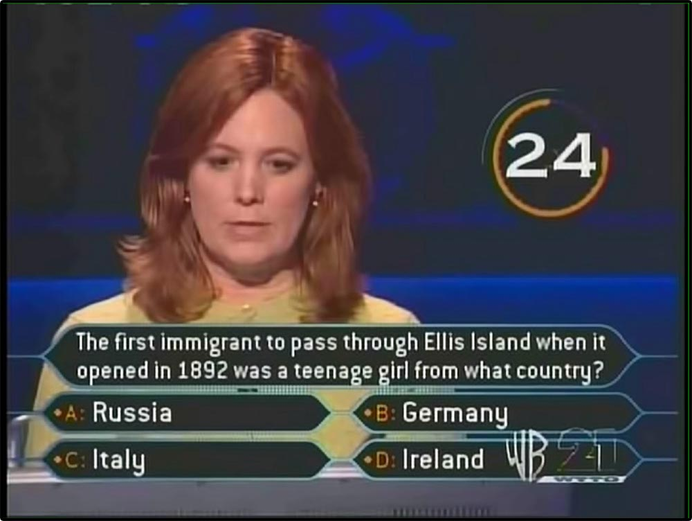 Figure 5.24 A Who Wants to Be a Millionaire contestant calls her husband for help with a question. The graphic shows they have 24 seconds remaining.