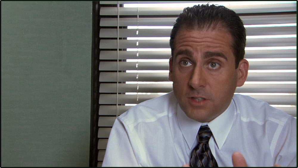 "Figure 5.26 The Office mimics a documentary style by ""interviewing"" actor Steve Carell . . ."