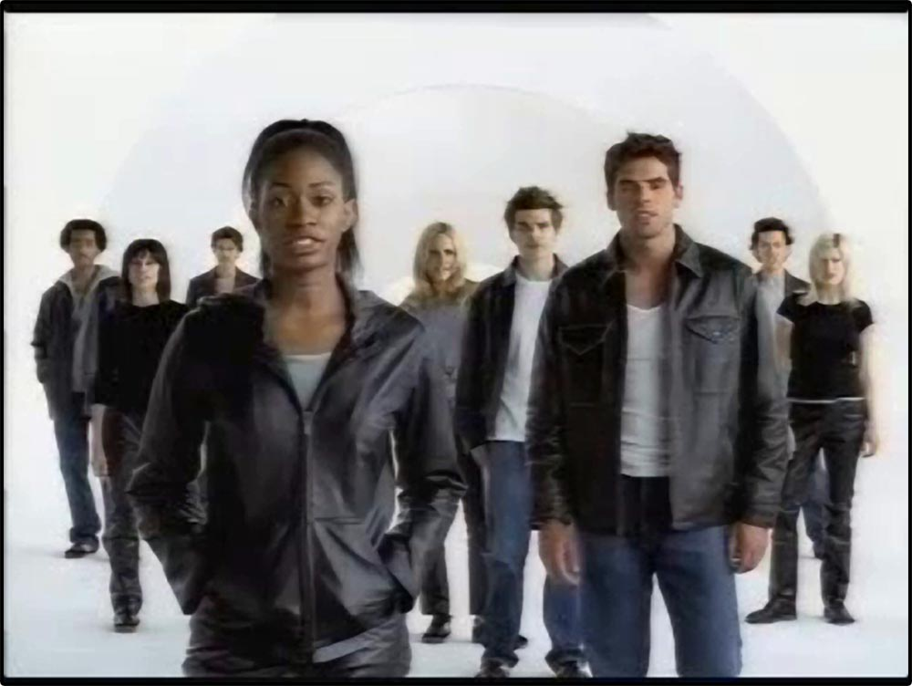 "Figure 6.1 Depeche Mode's ""Just Can't Get Enough"" accompanies a Gap commercial: ""Everybody in leather."""