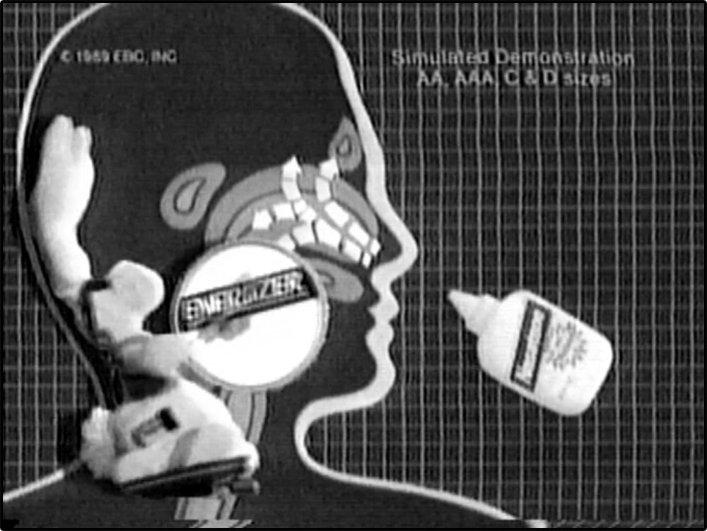 Figure 6.47 In reflexive fashion, the Energizer Bunny spoofs a commercial for a nonexistent nose-­spray product.
