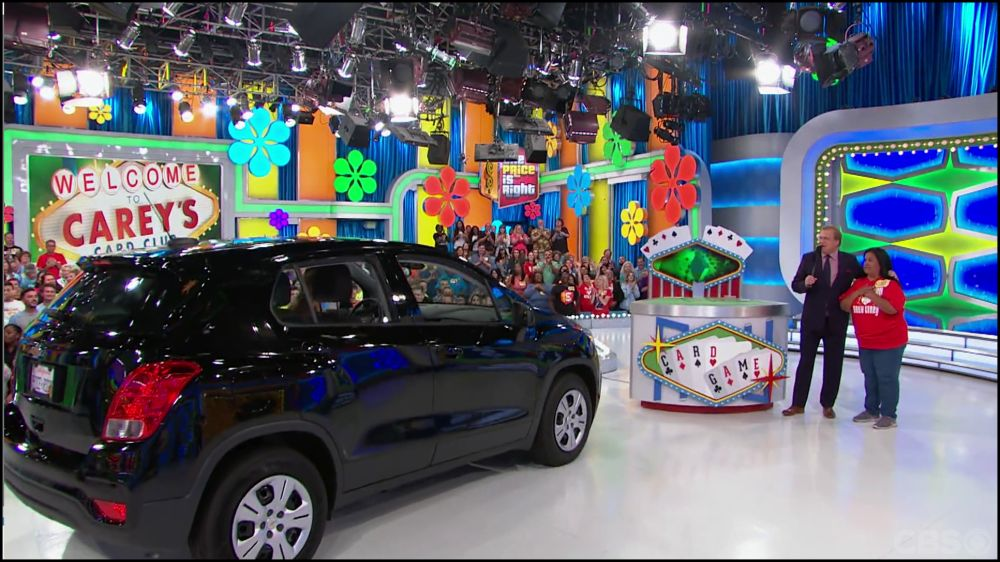 Figure 8.14 The lighting grid above the set is revealed in The Price Is Right . . .