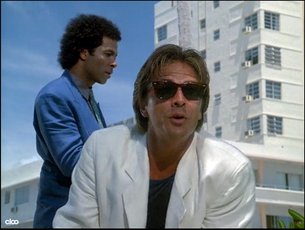 Figure 8.21 The nature of a character can be conveyed through an Armani suit (Sonny Crockett on Miami Vice) . . .