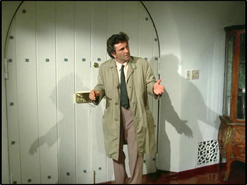 Figure 8.22 . . . a trench coat (Columbo on Columbo: Ashes to Ashes) . . .