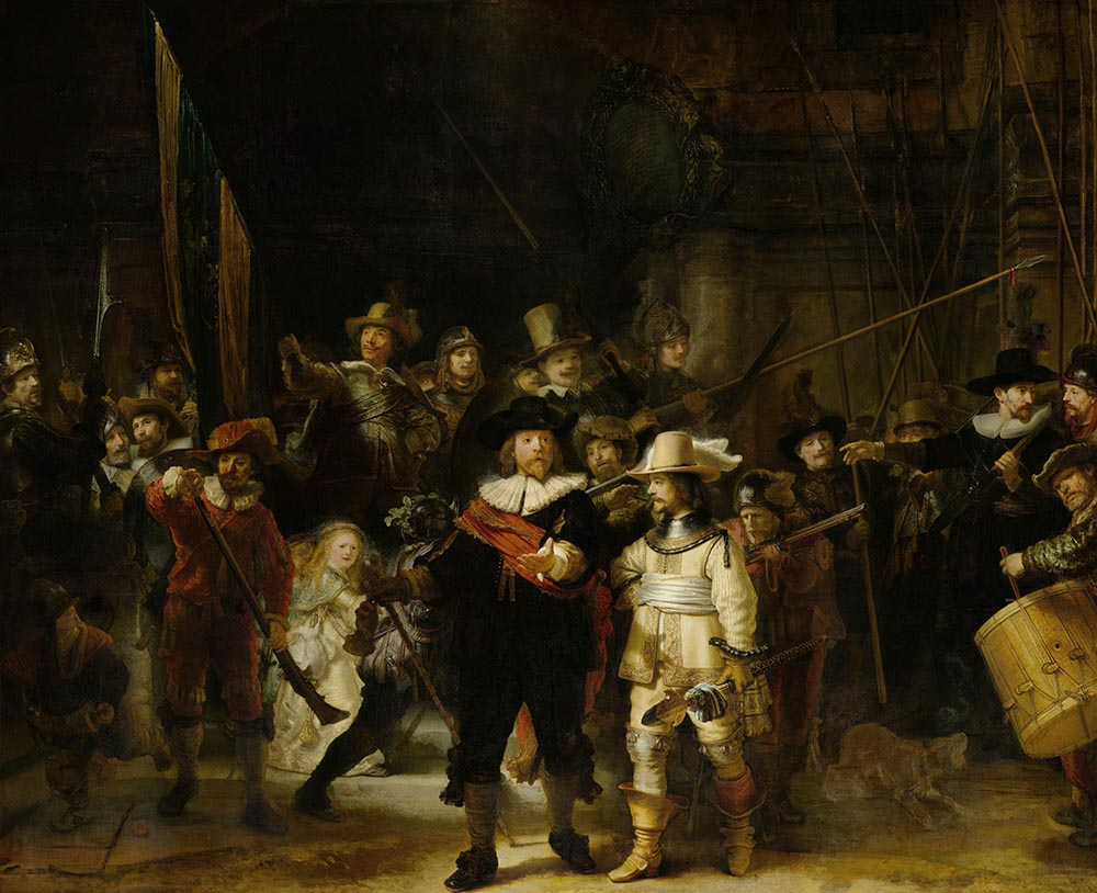 Figure 8.33 The lighting in Rembrandt van Rijn's The Nightwatch is a prime example of chiaroscuro.