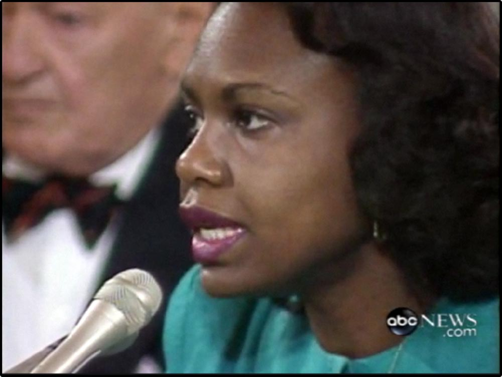 Figure 14.4 Anita Hill testifies against Clarence Thomas in his Supreme Court confirmation hearings.