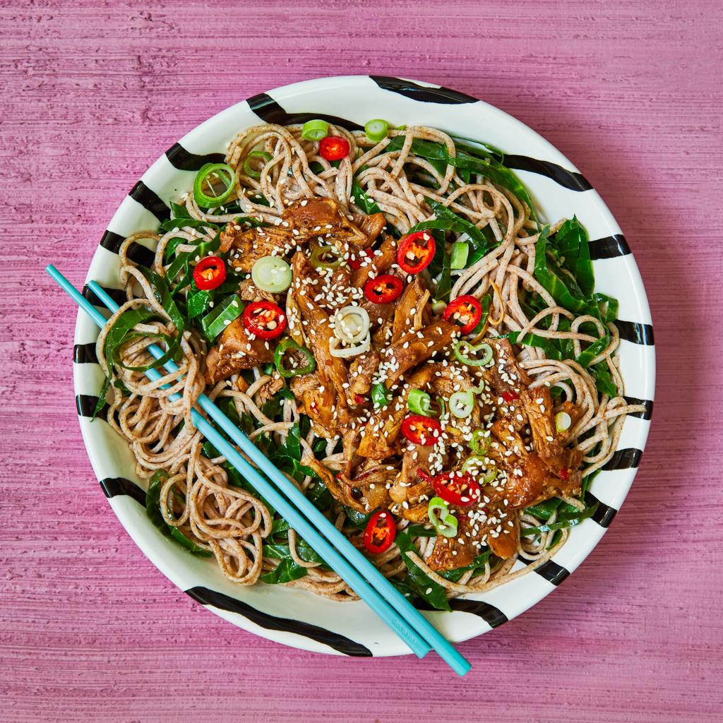 Pulled Hoisin Chicken Sesame Noodles Gousto