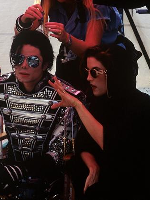 Helnwein-with-Michael-Jackson-and-Lisa-Marie-Presley-in-Budapest-