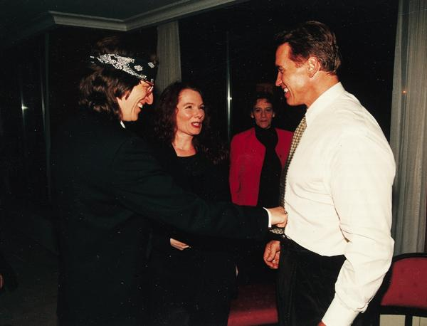 Helnwein and Arnold Schwarzenegger