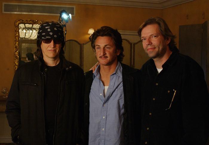 Helnwein, Sean Penn and director Henning Lohner