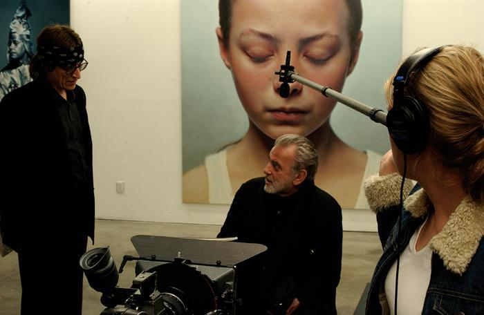"Maximilian Schell reading the Simon Wiesenthal essay on Helnwein's art-project ""Ninth November Night"""