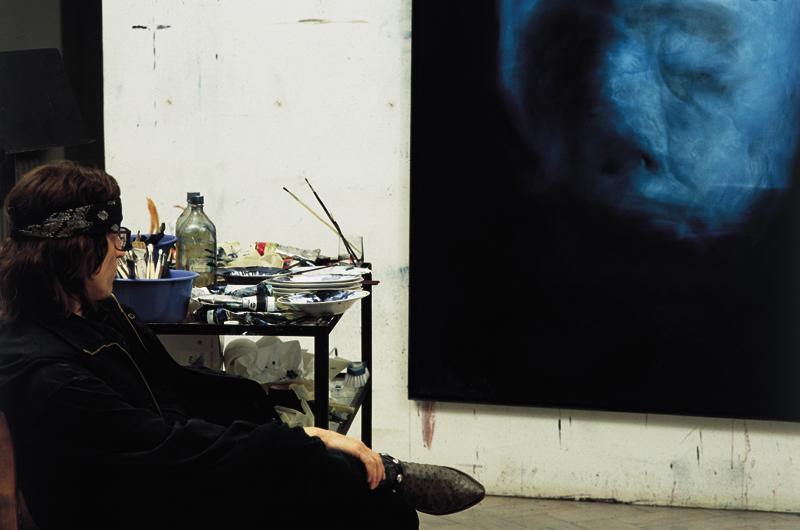 Helnwein in the studio