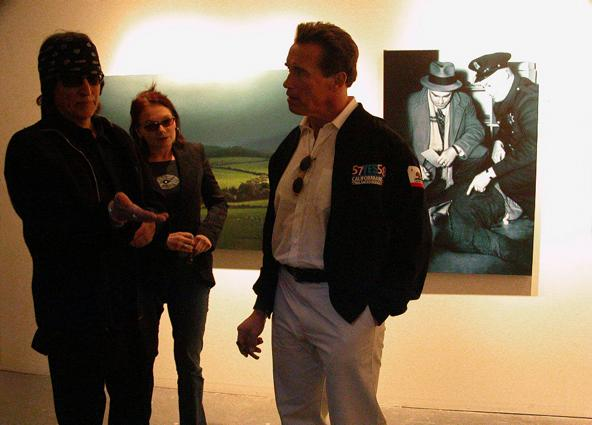 Helnwein, his wife Renate and Governor Arnold Schwarzenegger