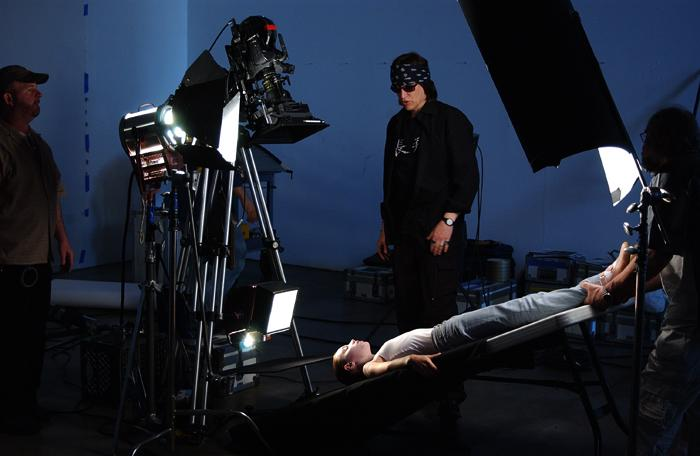 "Helnwein working on the video for ""Paradise and Peri"""
