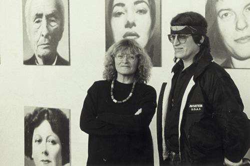 Alice Schwarzer and Gottfried Helnwein