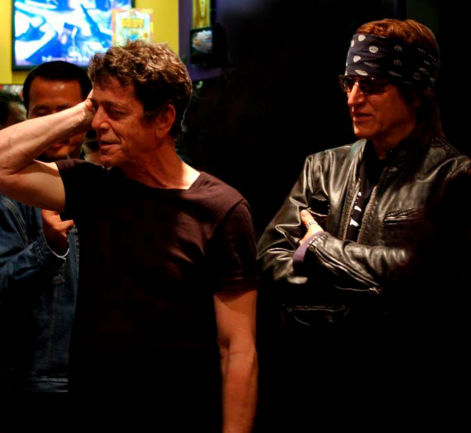 Lou Reed and Gottfried Helnwein