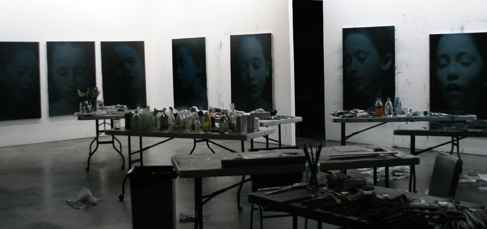 "Working on the Modernism show ""Modern Sleep"", 2004"
