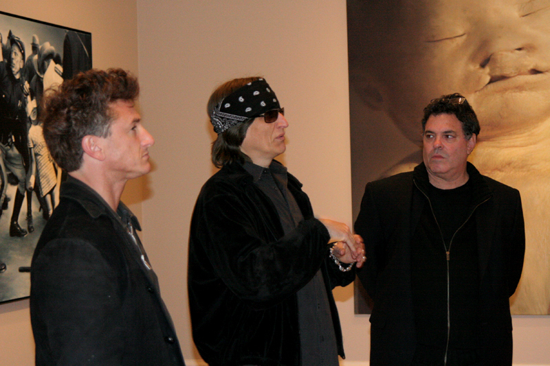 Sean Penn, Gottfried Helnwein and Israeli director Amos Gitai
