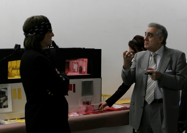 Helnwein and Placido Domingo