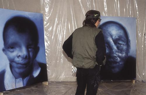 "Helnwein works on ""The Righteous men"""