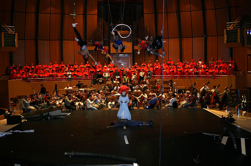 Rehearsal with the orchestra (Orchesterprobe)