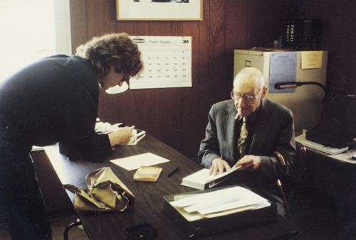 Gottfried Helnwein and William S. Burroughs