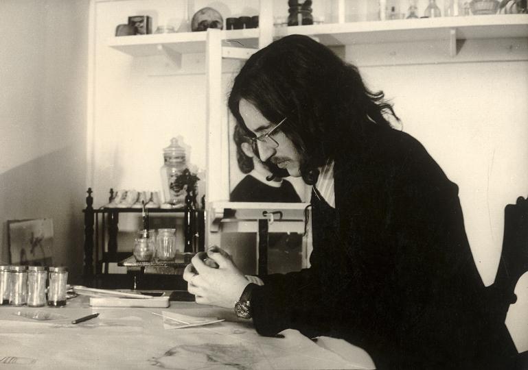 Helnwein at the Studio