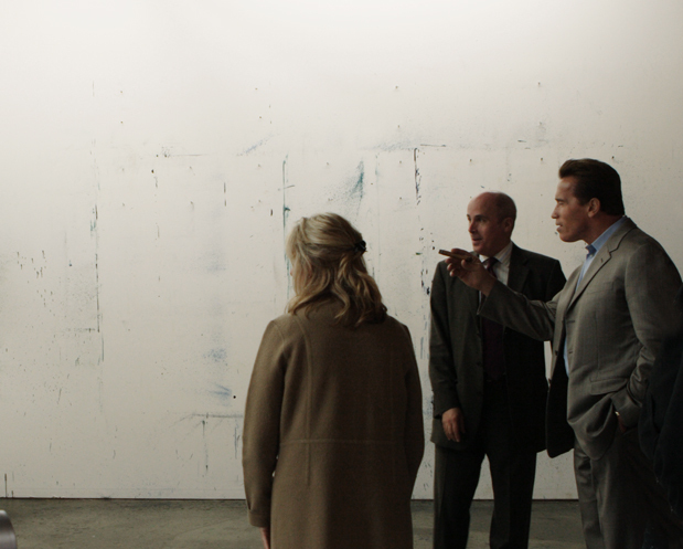 Governor Arnold Schwarzenegger visiting the Helnwein Studio