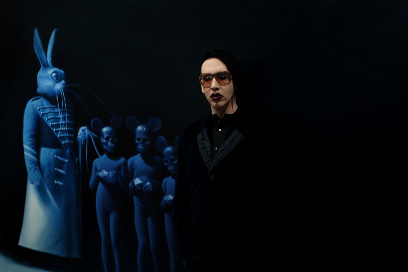 Manson at the opening of the Helnwein show