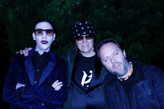 Manson, Helnwein and Lars Ulrich (Metallica)