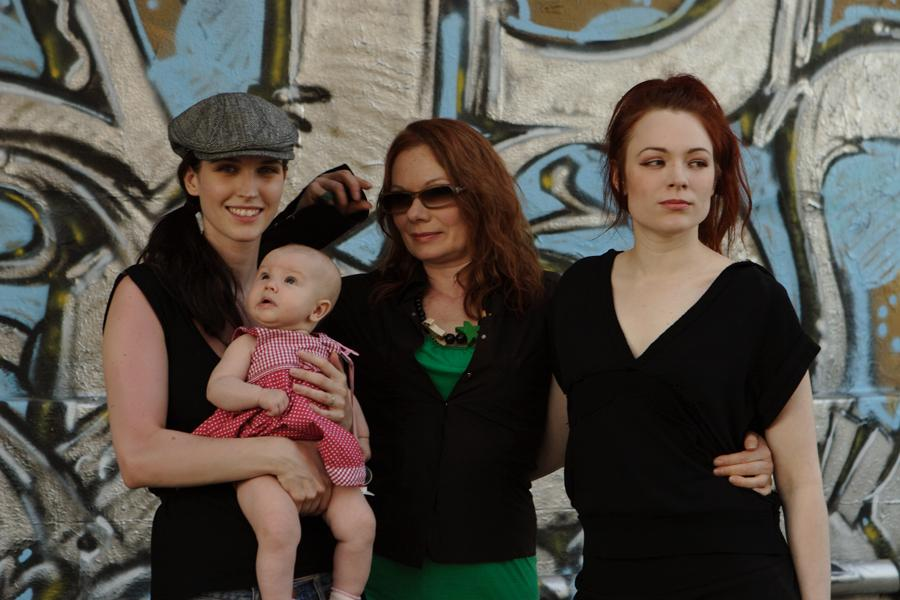 Kojii, Croí, Renate, Mercedes Helnwein in Los Angeles