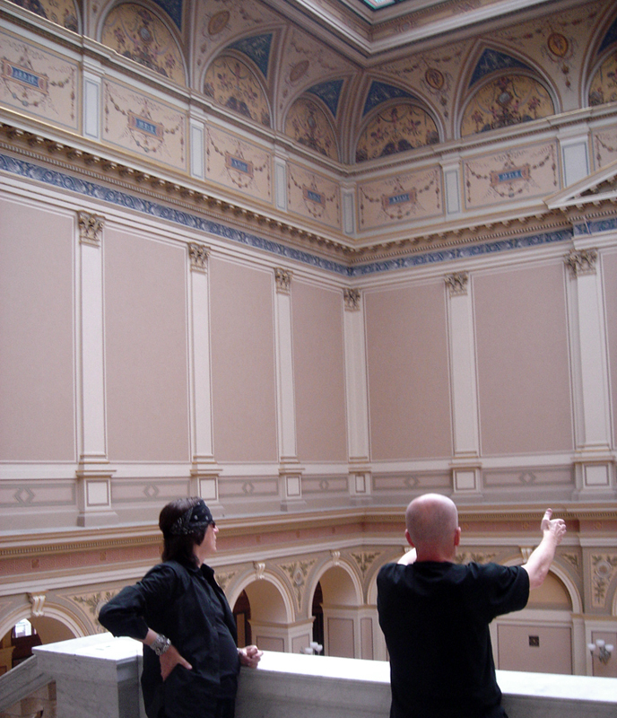 Helnwein and Peter Nedoma, director of Galerie Rudolfinum, Prague