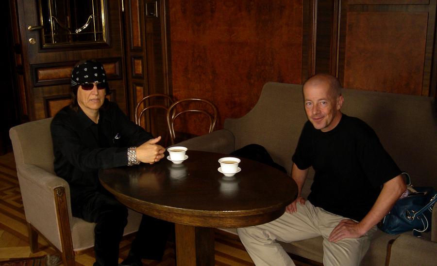 Helnwein and Peter Nedoma, director of Galerie Rudolfinum Prag