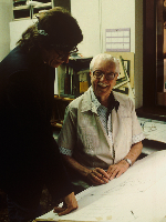 Gottfried-Helnwein-visits-Carl-Barks-the-Creator-of-Donald-Duck-and-Duckburg-