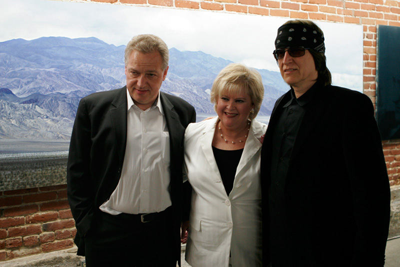 Edgar Baitzel, artistic director of the Los Angeles Opera, Gerri Lee Frye and Gottfried Helnwein