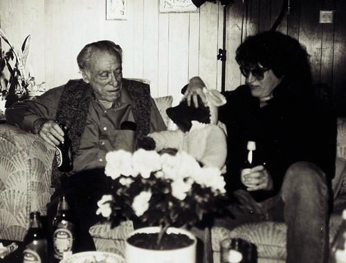 Charles Bukowski and Gottfried Helnwein in Los Angeles