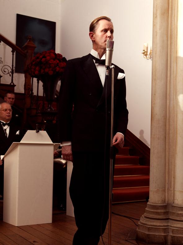 Max Raabe at the Manson-Von Teese wedding at Helnwein's irish Castle