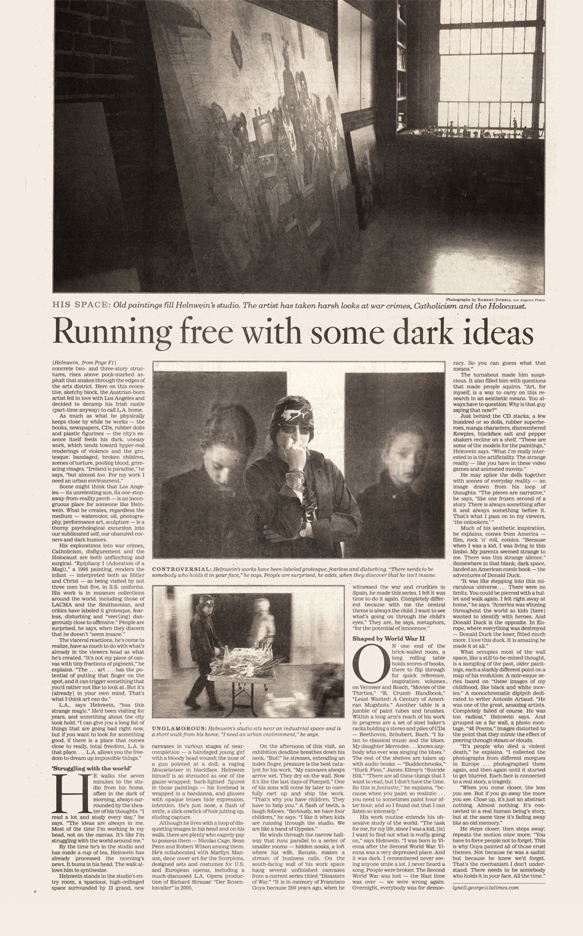 "Los Angeles Times, ""Dark Inspiration"""