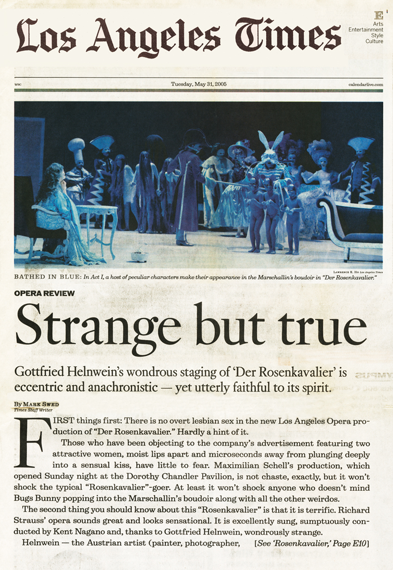 """Strange but true"", Los Angeles Times"