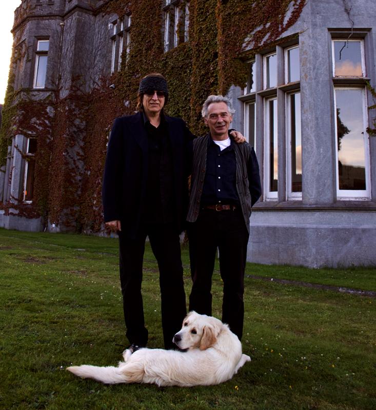 Gottfried Helnwein and Austrian playwright Felix Mitterer