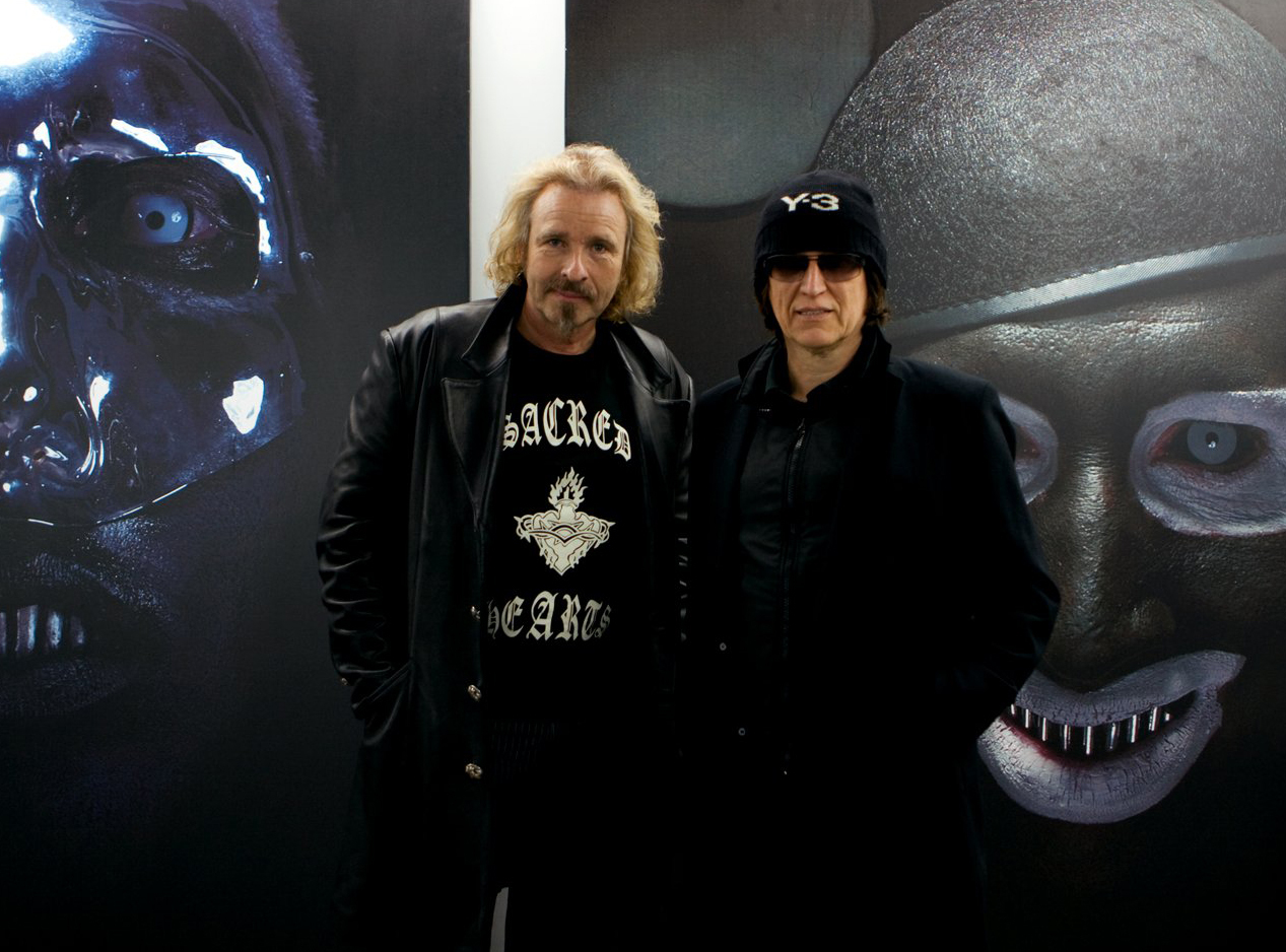 Thomas Gottschalk und Gottfried Helnwein in the studio
