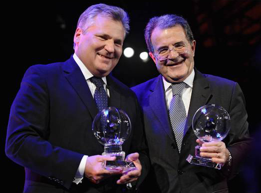 former president  of Poland Aleksander Kwasinewsk and former prime minister of Italy Romano Prodi