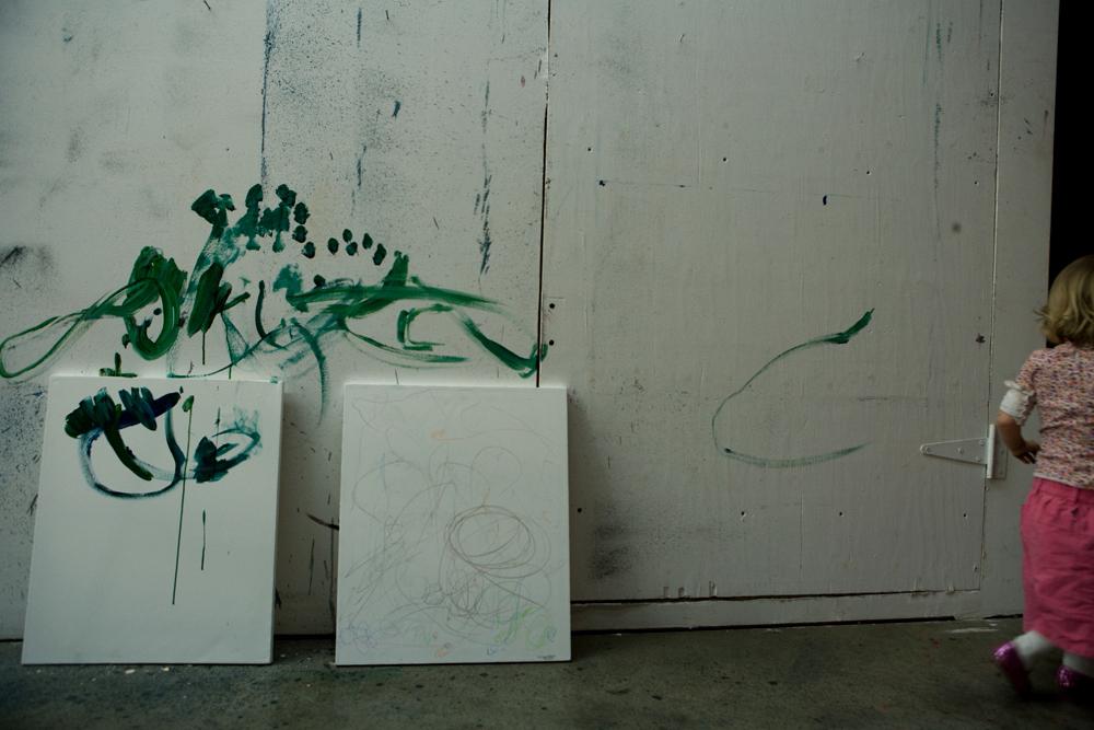 Cree Sequoia at work in Gottfrieds Studio 2008