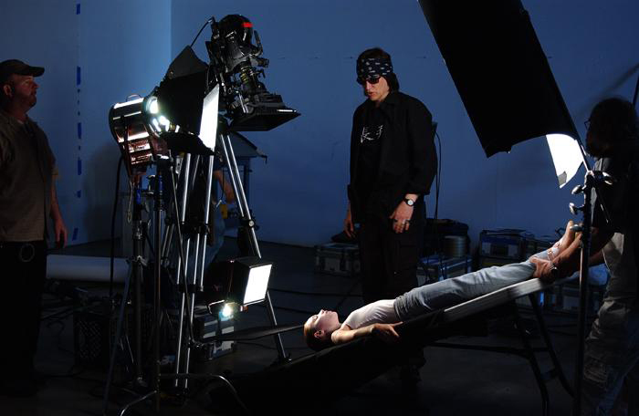 "Helnwein directing video for ""Paradise and the Peri"""