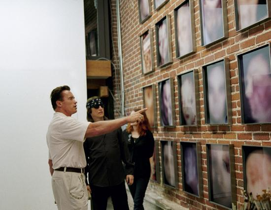 Arnold Schwarzenegger visits the studio