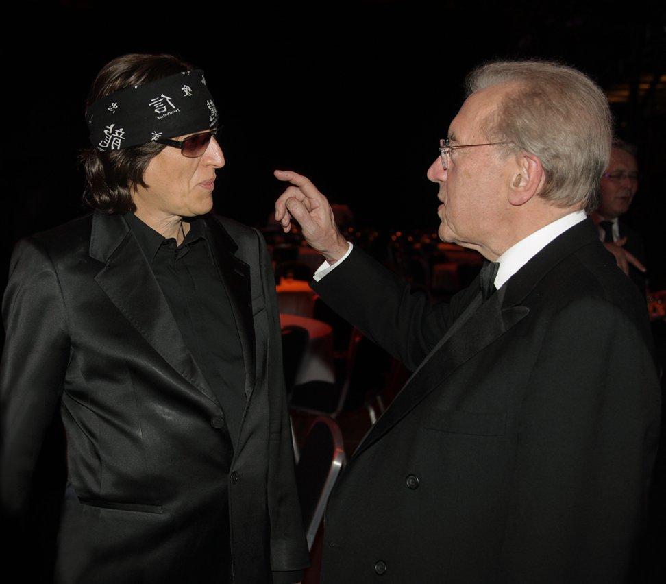 Gottfried Helnwein and Sir David Frost