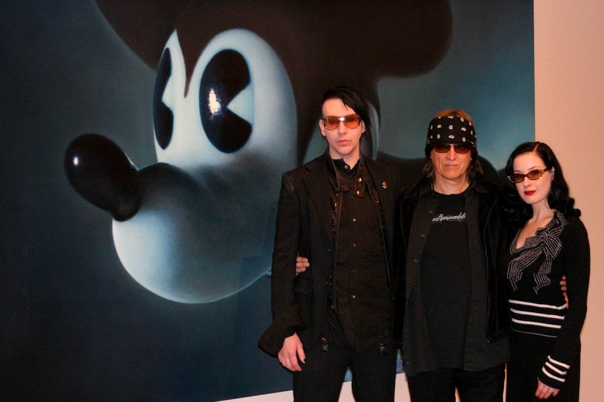 "Manson, Helnwein and Dita at the ""Child""-exhibition, San Francisco"