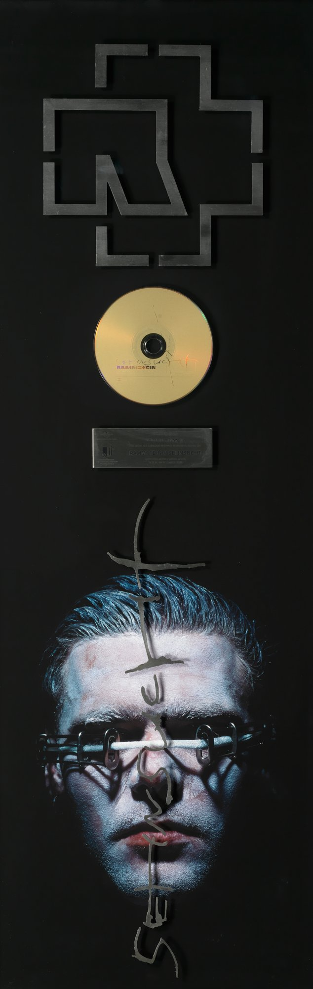 Platinum for Rammstein Helnwein-cover artwork